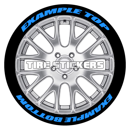 Custom Tire Stickers Top & Bottom | TIRE STICKERS