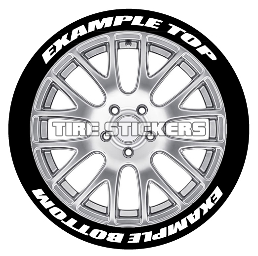 custom tire stickers top bottom tire stickers Custom Vintage Motorcycles ex le tire stickers white 1