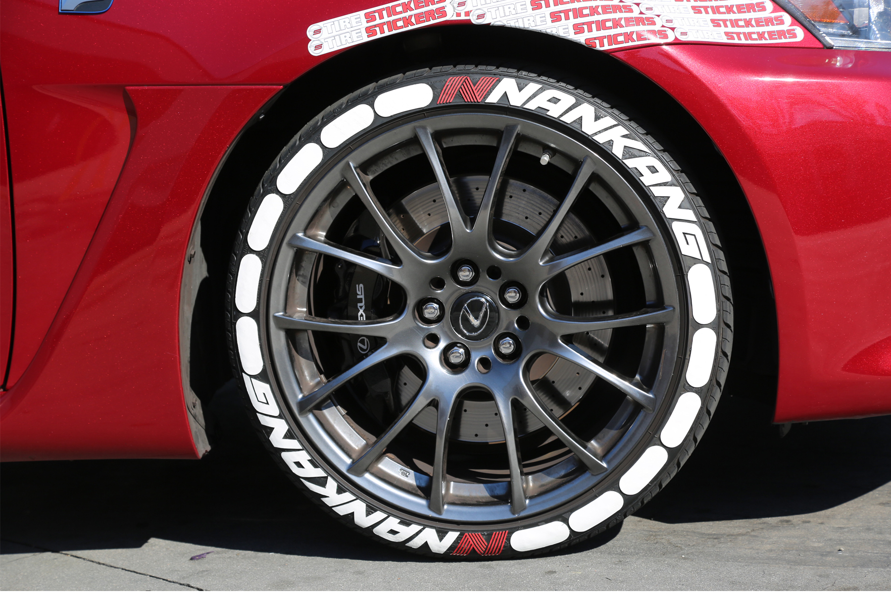lexus ISF nankang tires - tire stickers - white 4 | TIRE ...