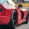 dodge viper - red - black - tire lettering