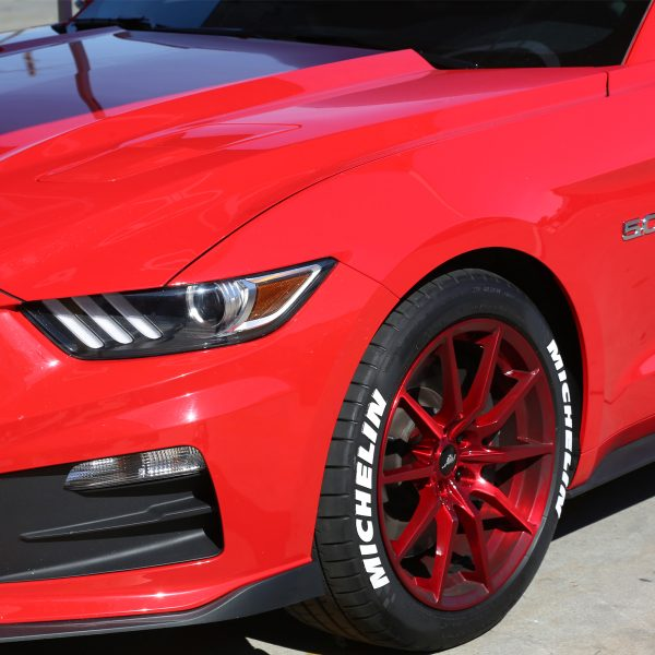 lettering tire stickers white michelin tire stickers red ford mustang front side