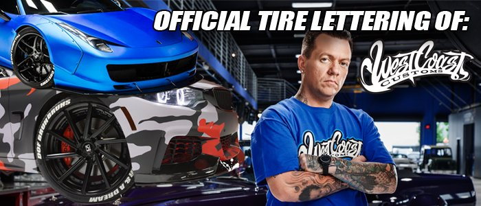 WEST COAST CUSTOMS - TIRE STICKERS