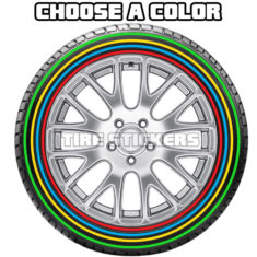 color lines tires - tire stickers 2