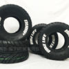 pre lettered tires - ATV custom tire lettering - white - bike life