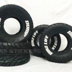 pre lettered tires - ATV custom tire lettering - white - bike life