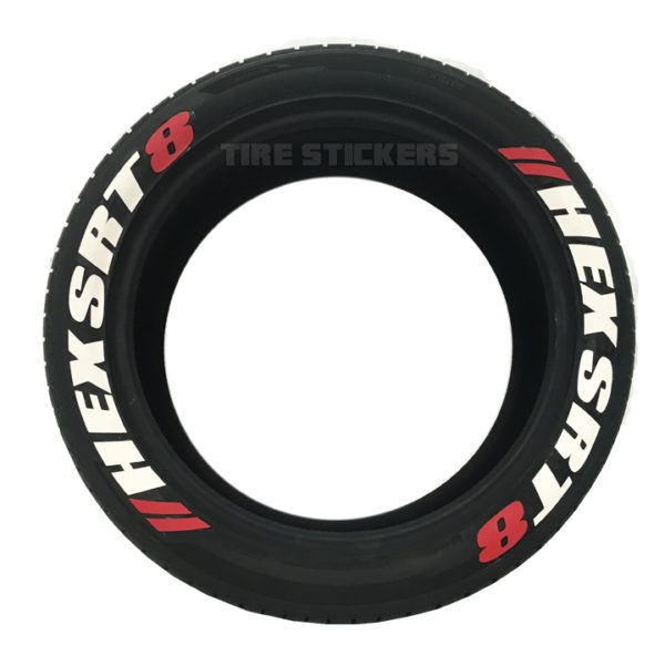 pre lettered tires - tire stickers - used tires- 2