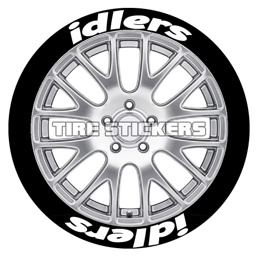 idlers tire lettering tire stickers