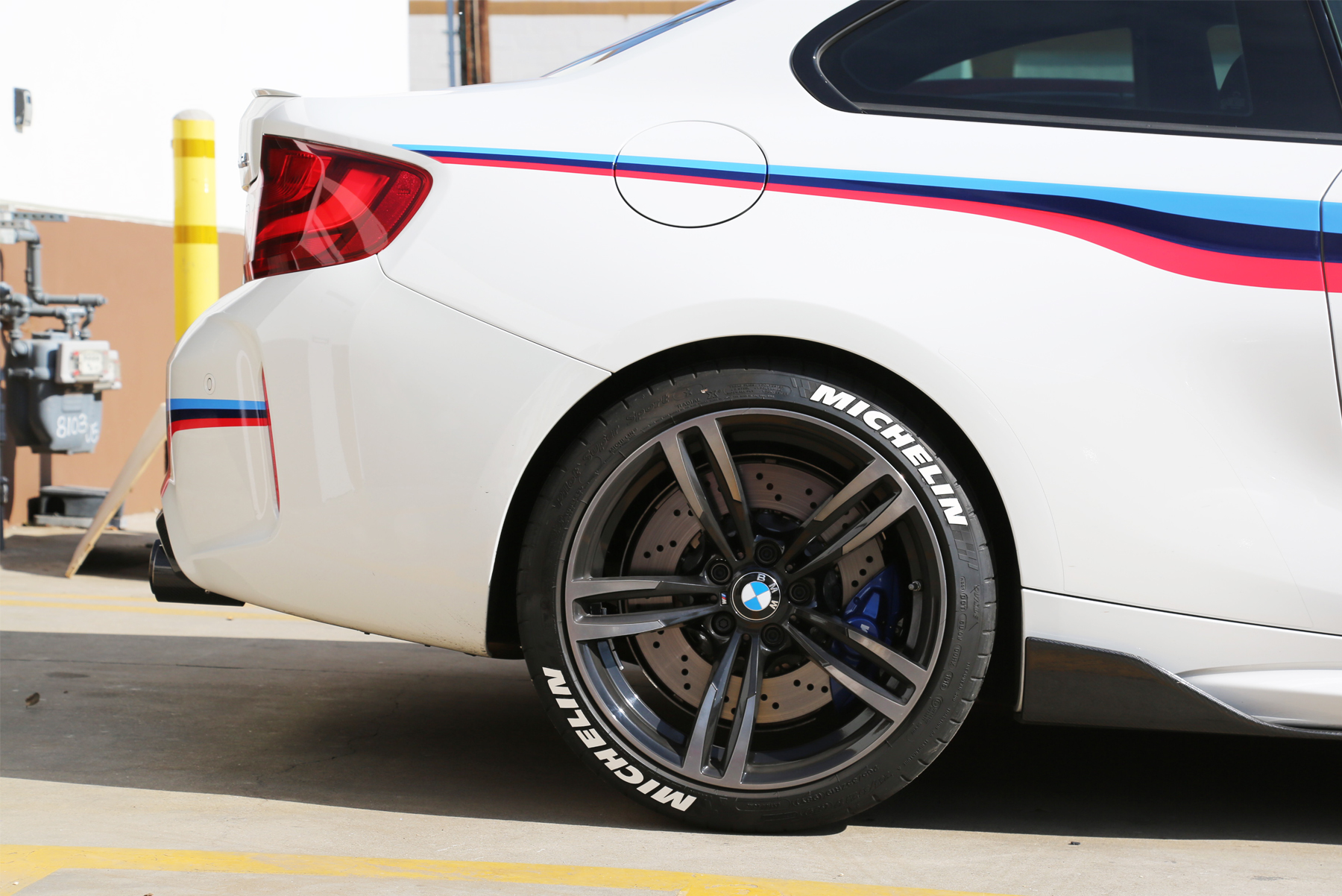 Bmw M2 With White Michelin Tire Stickers Tire Stickers Com