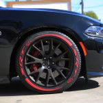SRT Camaro Hellcat srt - Hell Cat with Red Tire Stickers Chevy