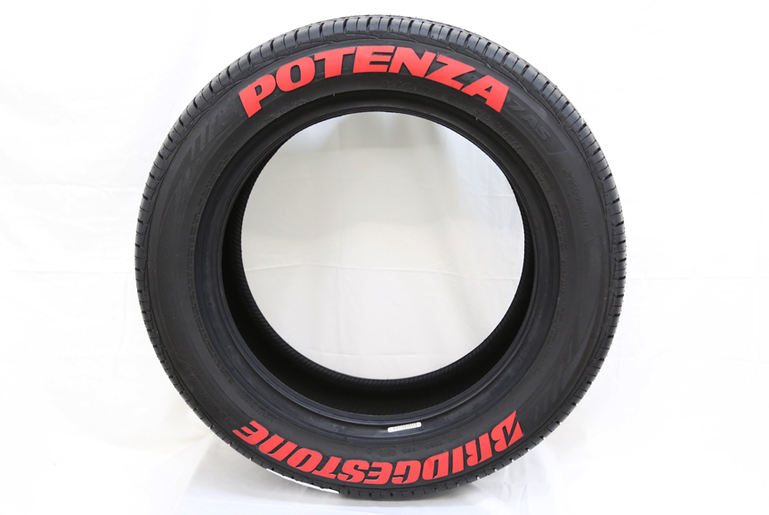 Bridgestone Potenza Tires - Red Potenza | TIRE STICKERS .COM