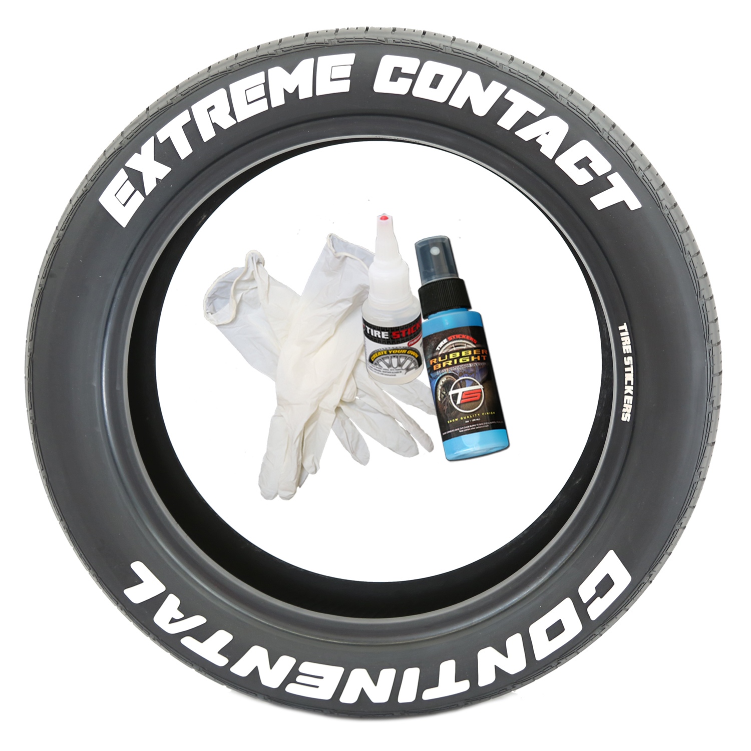 Continental extreme contact tire stickers white right 8
