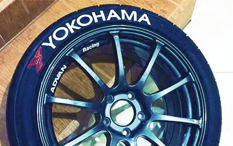 Yokohama Tire Lettering >> Yokohama Advan Tire Lettering Tire Stickers