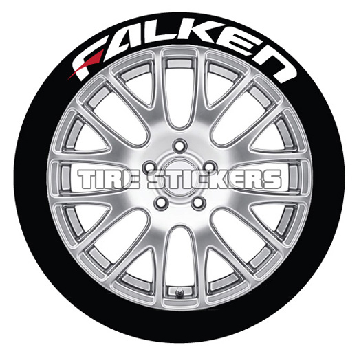 Falken Tire Lettering With Red Dash | TIRE STICKERS