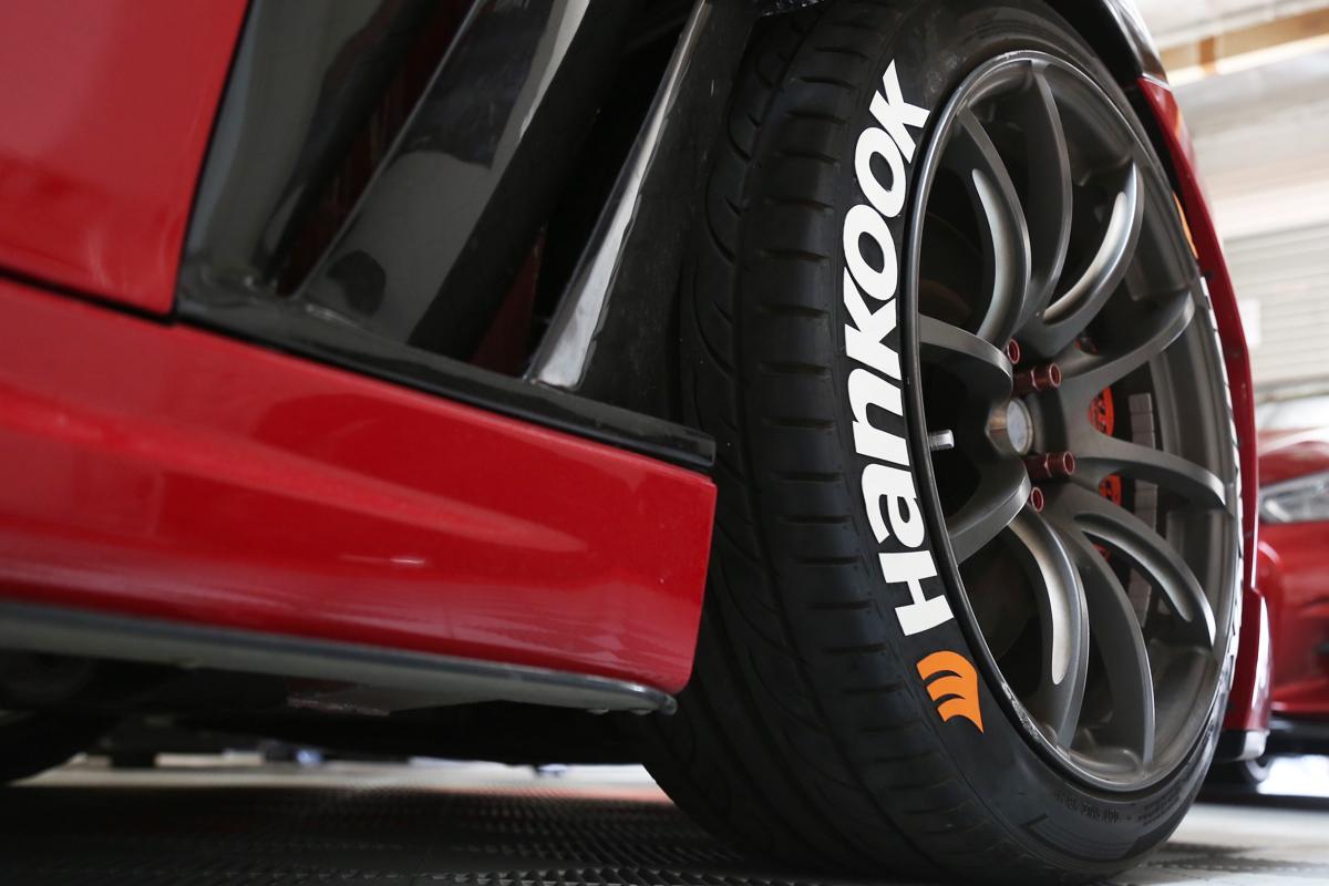Hankook Tires White Letters >> HANKOOK with Orange Logo   TIRE STICKERS