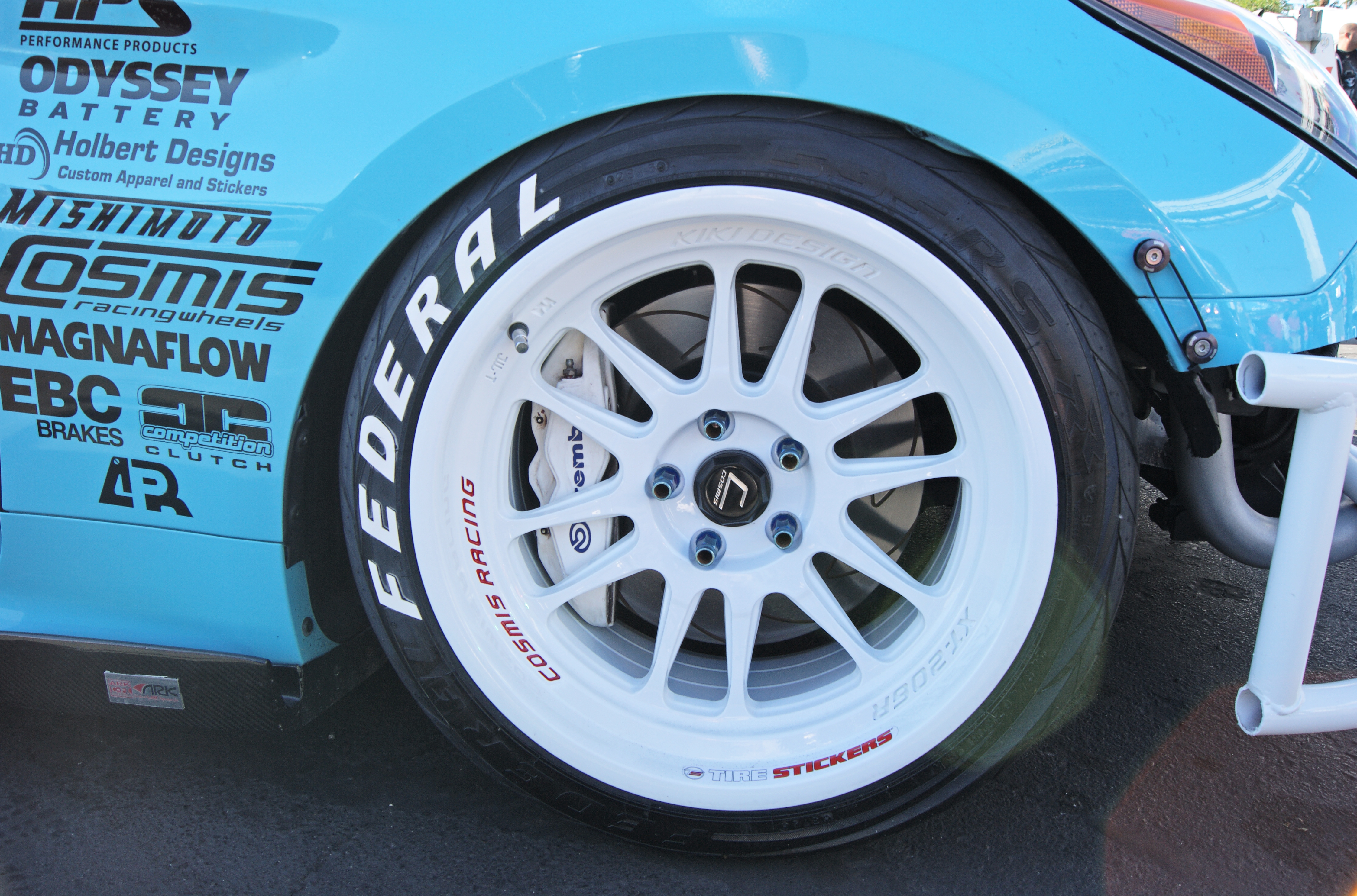 Federal tires white stire stickers 4