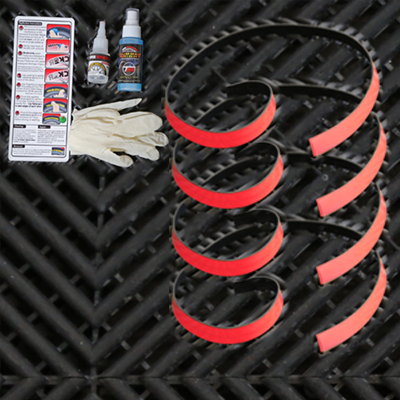Redline Tire Ring Add On Kit Permanent Rubber Red
