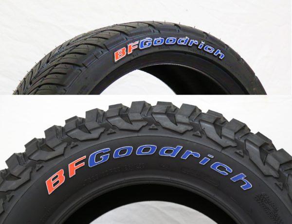 bfgoodrich tire lettering