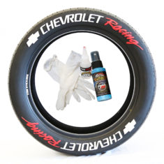 Chevrolet Racing Tire Stickers - white with red