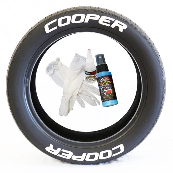 Cooper Tire Stickers - white letter tire