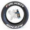Falken-Azenis-red-dash-Tire-Stickers-with-glue-and-gloves-front