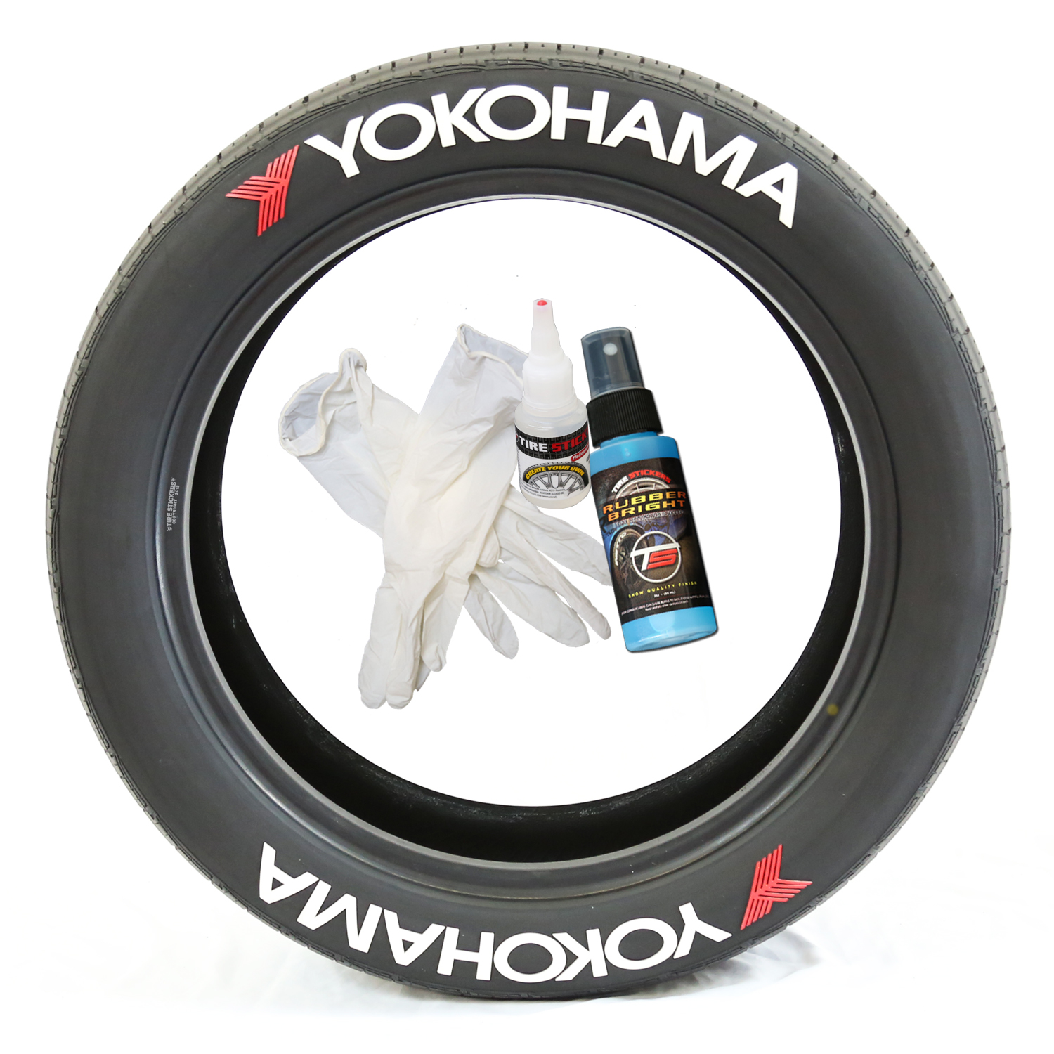 Yokohama Advan Tire Lettering Tire Stickers
