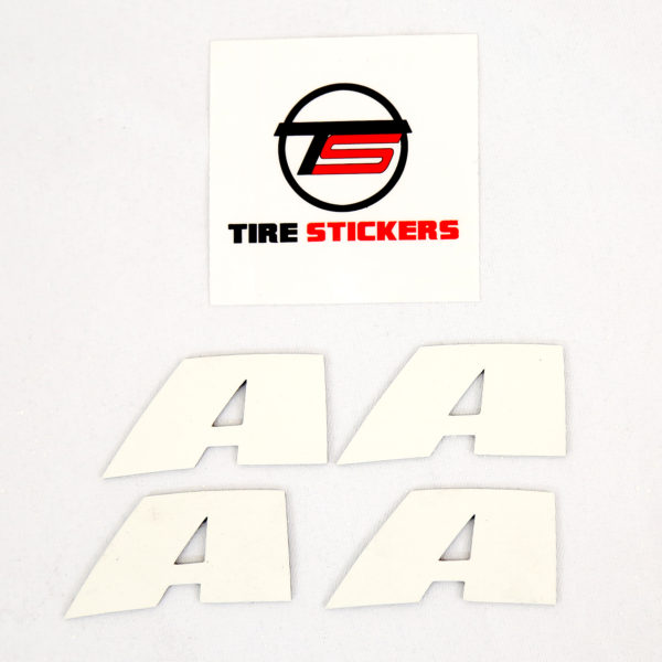 Tire Lettering - Letter A - white