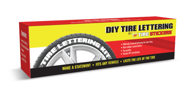 retail box tire lettering