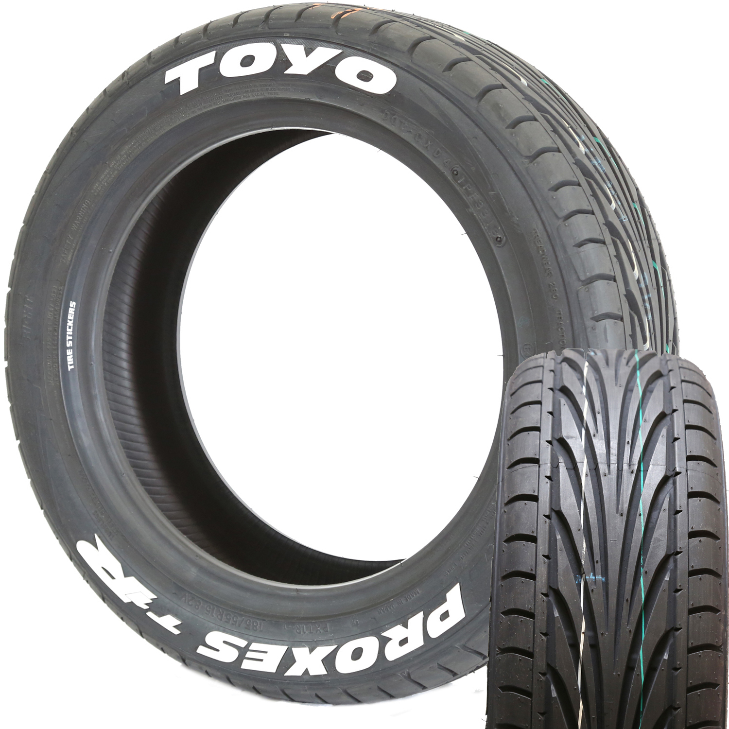toyo tires proxes t1r white letter tire tire stickers com. Black Bedroom Furniture Sets. Home Design Ideas