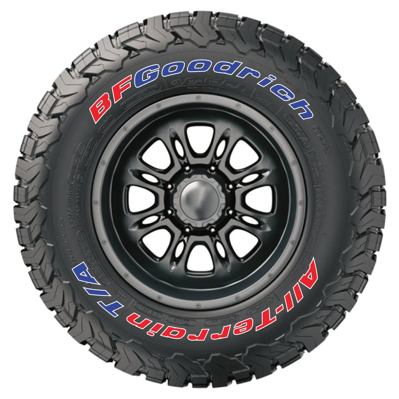 Bf Goodrich All Terrain Ko2 >> Official Bfgoodrich Tire Letters Tire Stickers Com