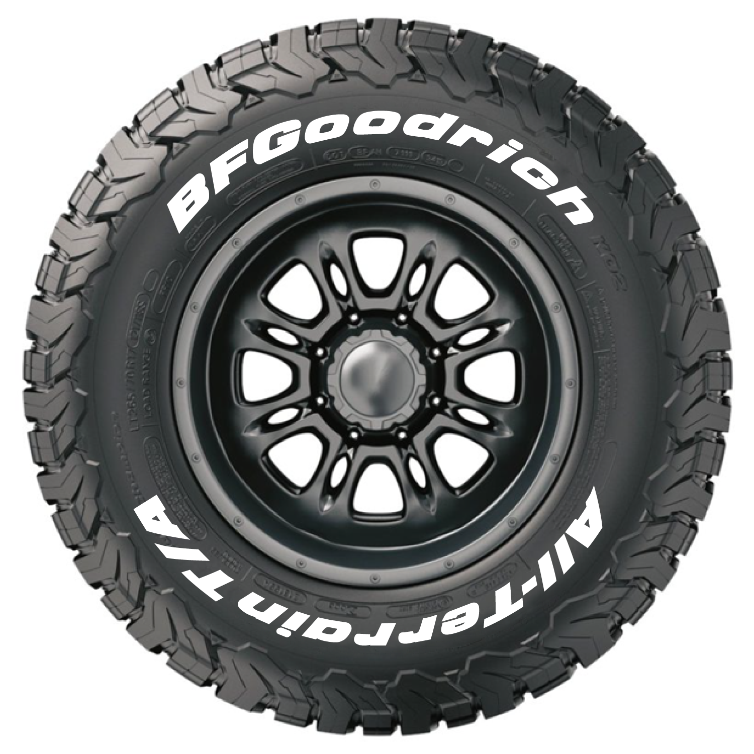 official bfgoodrich tire letters tire stickers com. Black Bedroom Furniture Sets. Home Design Ideas
