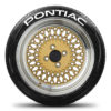 Pontiac Tire Stickers - White - 4 Stickers