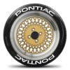 Pontiac Tire Stickers - White - 8 Stickers