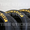 Dunlop Black and Yellow Stickers For Tires - Tire Stickers