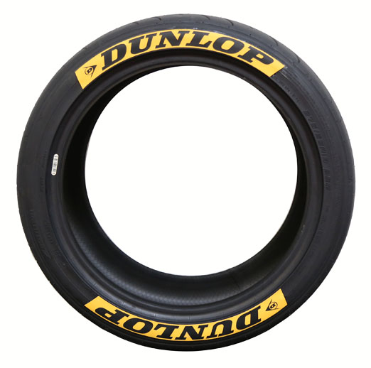 Yellow Background Dunlop Tire Stickers - 8