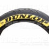 Yellow Dunlop Tire Decals - by Tire Stickers