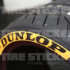 Yellow Dunlop Tire Stickers - Car Tire Lettering