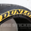 Yellow Dunlop Tire Stickers - Side View