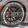 scat pack tire stickers with dodge red dashes - 392 hemi photo