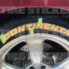 yellow continental tire lettering