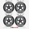 Dodge Scatpack OEM Charger Designs- Tire Stickers
