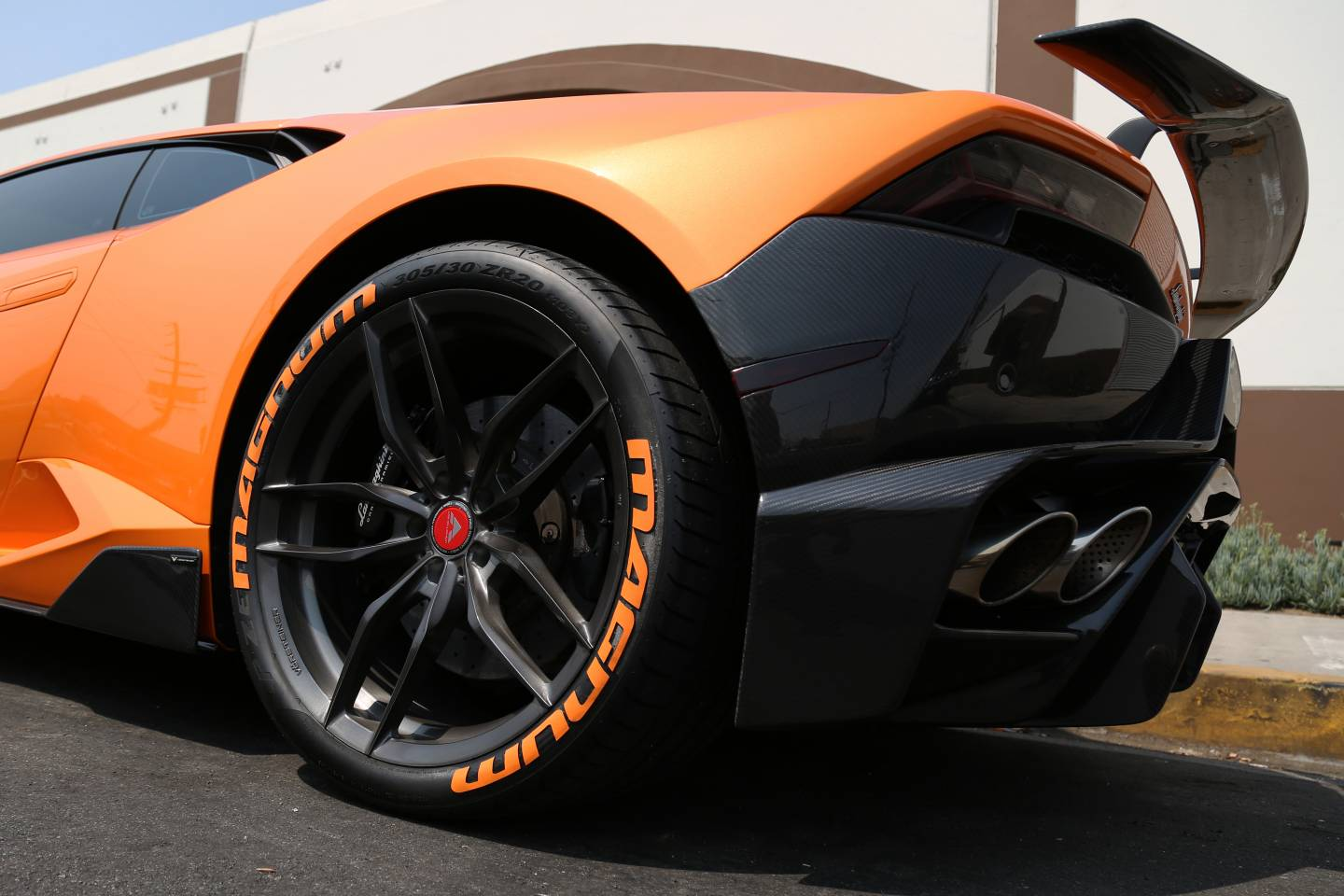Rear Wheel - Orange Lambo